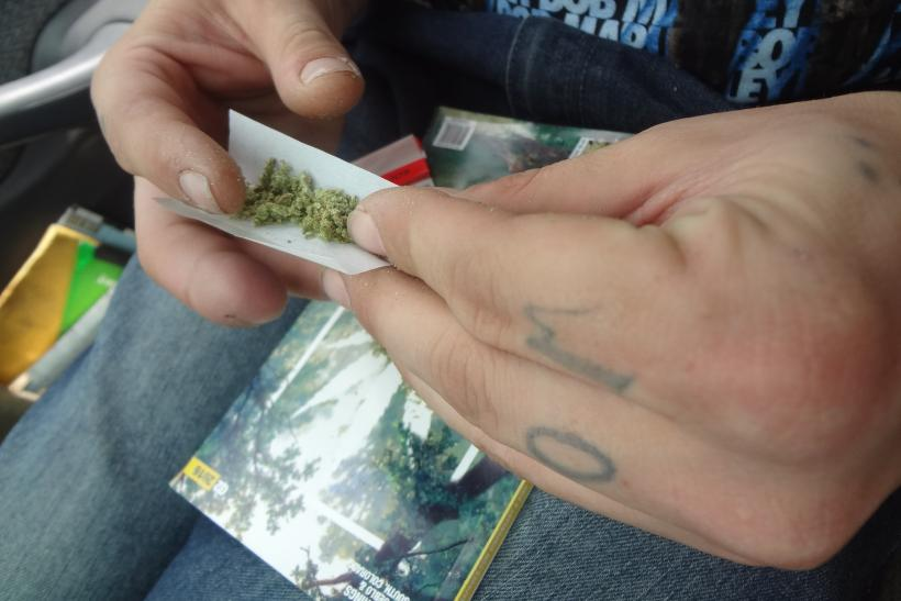 Devin Butts rolling joint 2