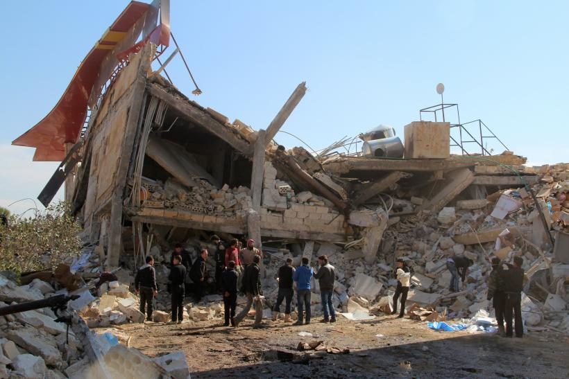 Rubble of Syrian hospital