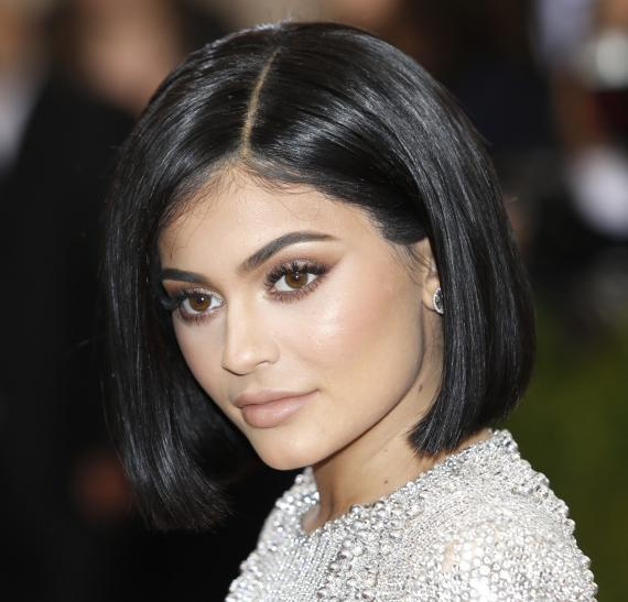 Kylie Jenner gives a sneak peek of her new lipstick shade