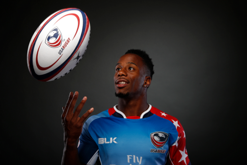 Rugby player Carlin Isles poses for a portrait at the U.S. Olympic Committee Media Summit in Beverly Hills, Los Angeles, California March 7, 2016.