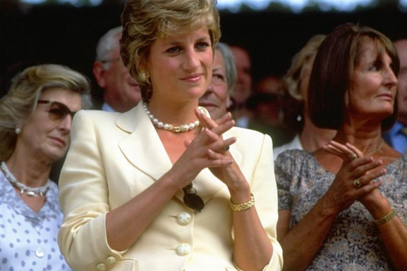 Princess Diana Watches Wimbledon