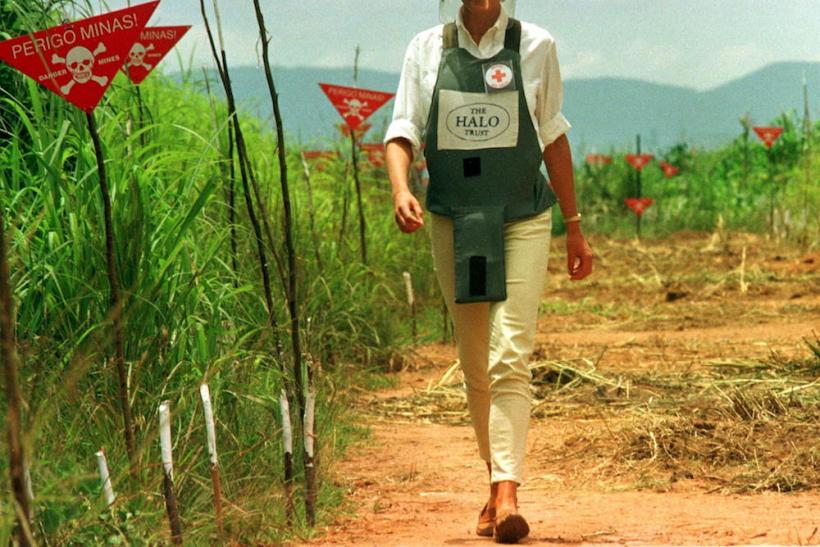 Diana Walks In A Land Mine Field - January 1997