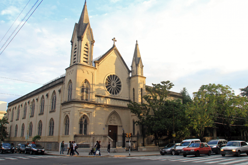 An exterior view of the Our Lady of Mercy Church, where Argentine Cardinal Jorge Bergoglio attended nursery school as a child, is seen in the Flores neighbourhood of Buenos Aires March 13, 2013.