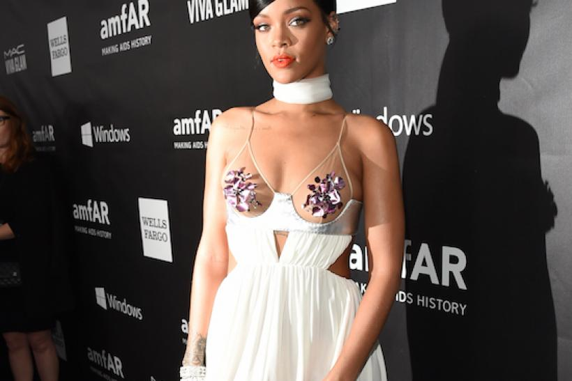Rihanna At The amfAR LA Inspiration Gala In Hollywood 2014