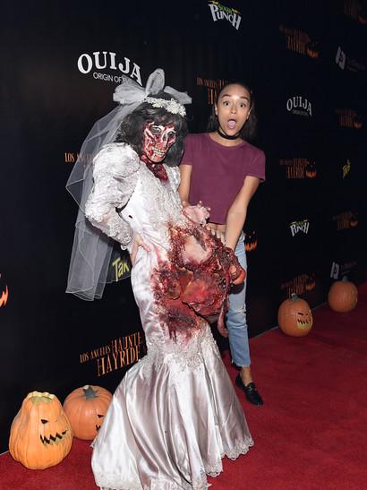ashley madekwe got spooked by a ghoulish bride - Ashley Tisdale Halloween
