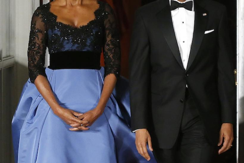 In Carolina Herrera For A State Dinner With The French President