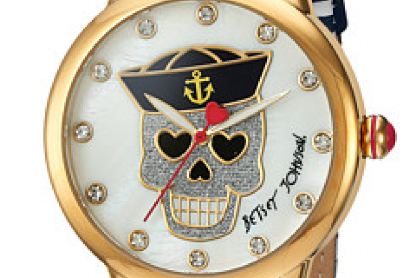 Nautical Skull Watch, Betsey Johnson $52.99