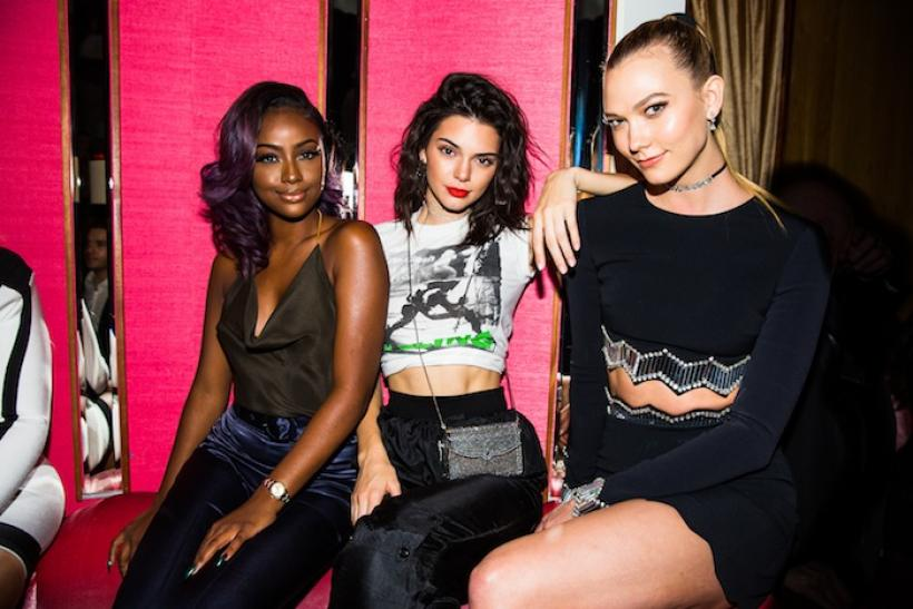 Justine Skye, Kendall Jenner and Karlie Kloss