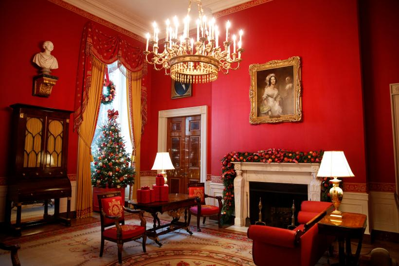 The Red Room Is Decked Out During A Holiday Decor Preview At The White House In Washington Nov 29 2016 Photo Reuters