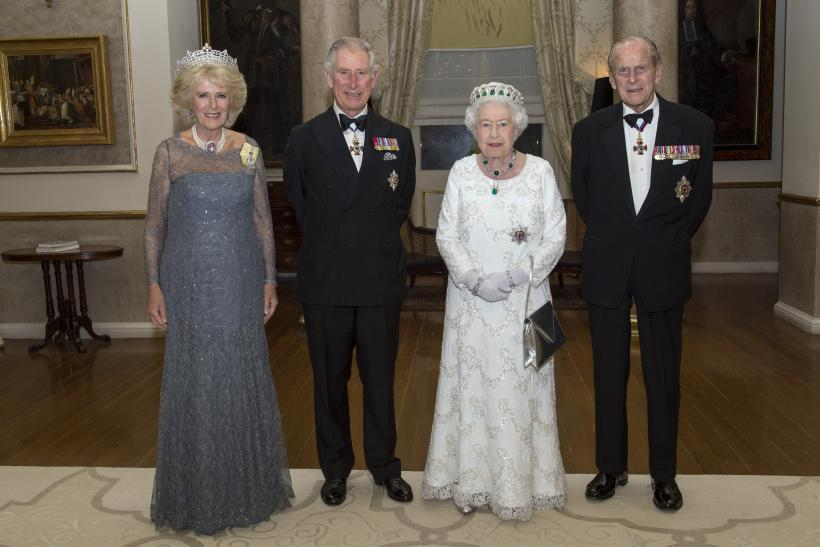 Britain S Queen Elizabeth And Prince Philip R Posing With Charles Camilla Ss Of Cornwall Before The Commonwealth Heads Government
