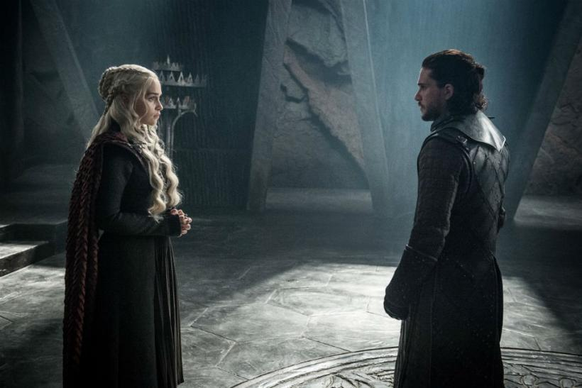 "Daenerys and Jon on ""Game of Thrones"""