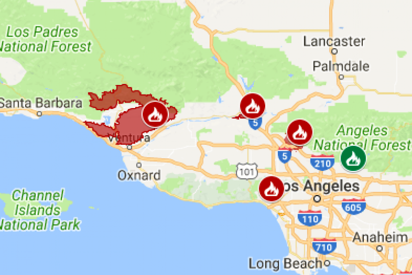 Latest California Fires Map Update Where Are Wildfires Still Burning