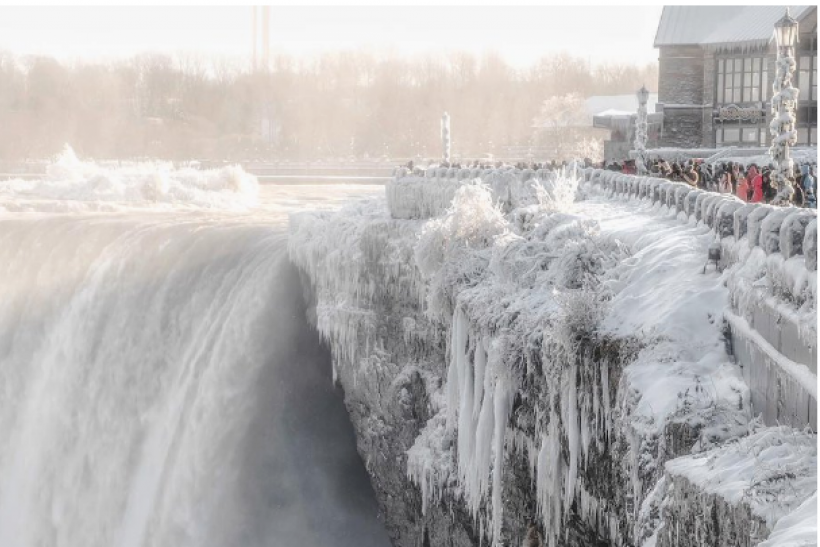 Niagara Falls freezes in incredible cold snap