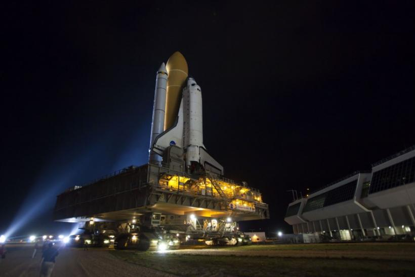 NASA Space Shuttle Atlantis Rollout to Kennedy Space Center's Launch Pad