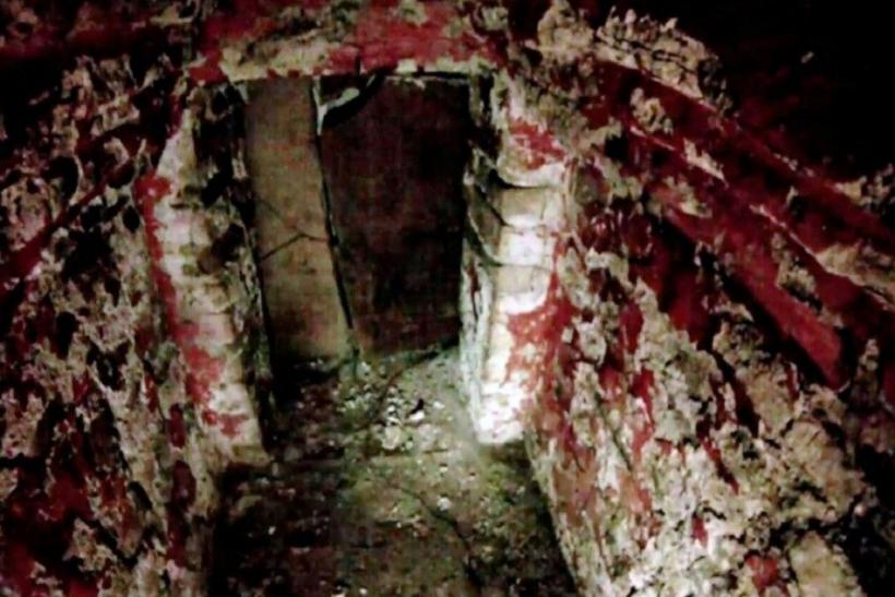 Handout shows inside of a tomb of a Mayan ruler, that has been sealed for 1,500 years, is seen in southern Mexico