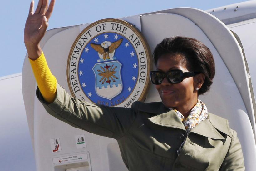 Michelle Obama opts for 'affordable fashion' during South-Africa tour.