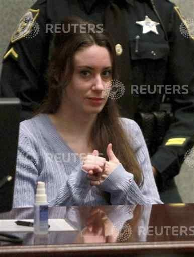 Casey Anthony sits in court during sentencing at the Orange County Courthouse in Orlando