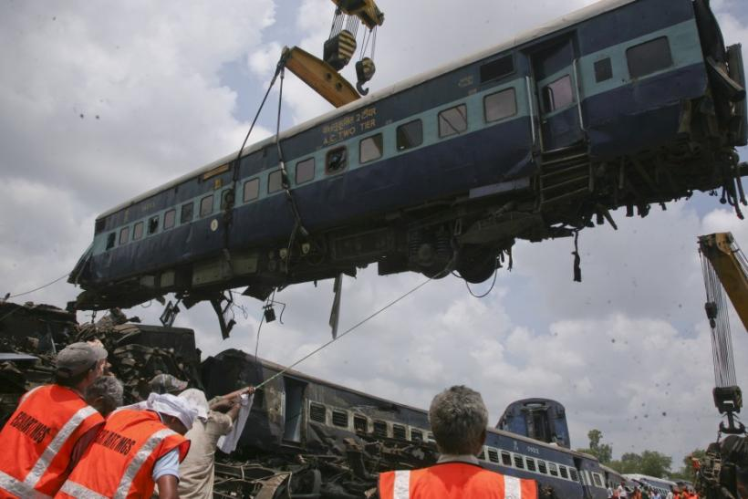 Bodies Pulled from the Wreckage of India Train Accident ...  Indian Railway Accidents