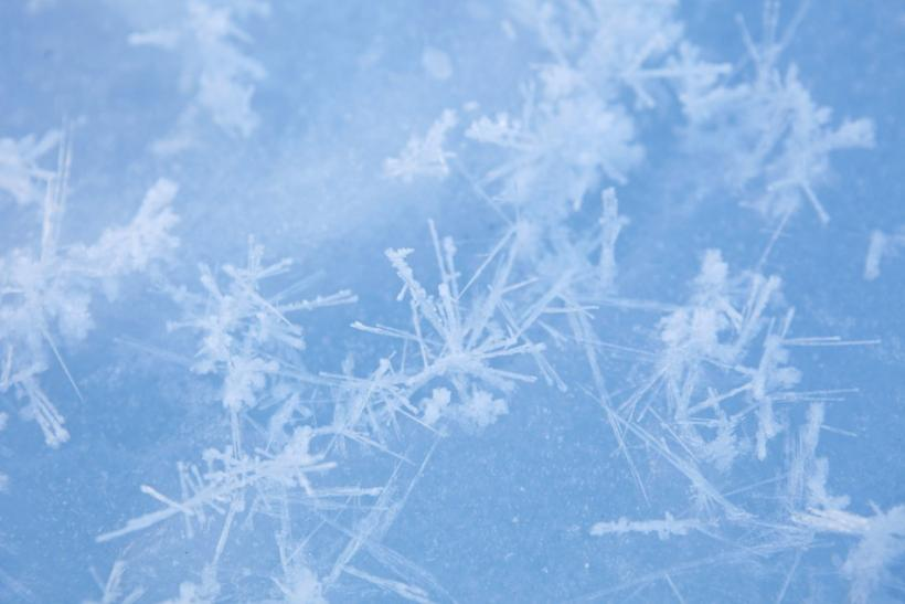 Ice crystals are seen