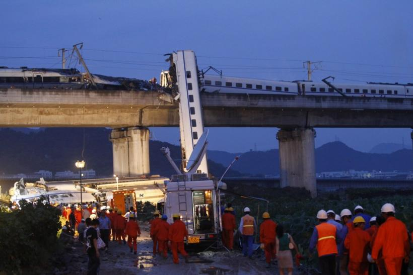 Aftermath Photos of China High-Speed Trains Collision