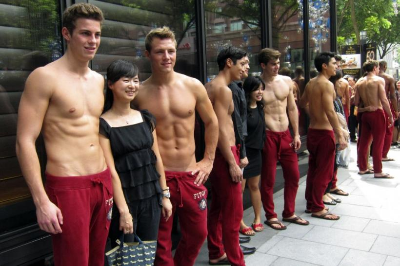 Abercrombie & Fitch Models Go Shirtless for Singapore Store ...