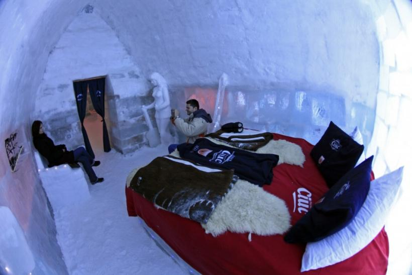 Ice Hotel in the Romanian Mountains