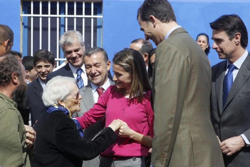 Spain's Princess Letizia Graces Pink, Charms Canary Islanders of El Hierro