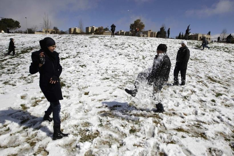 Snow in Holy City
