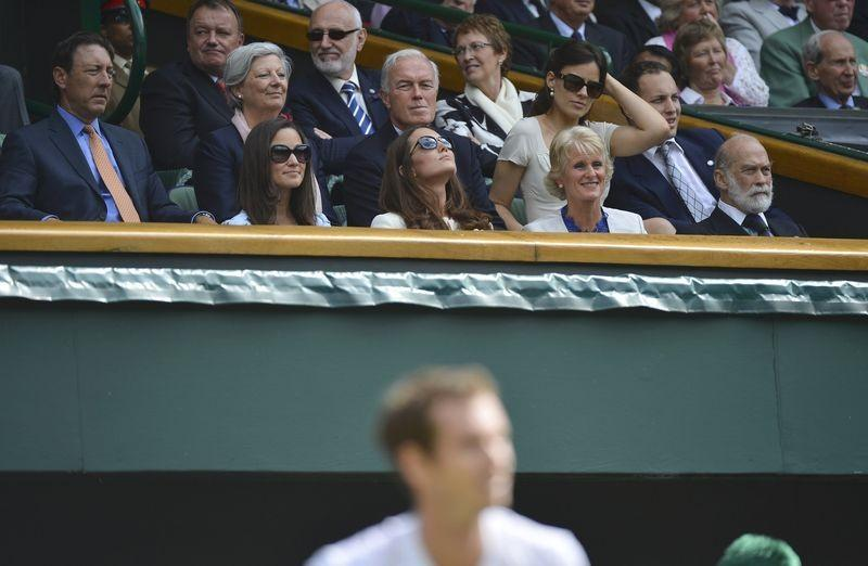The royal box at the Wimbledon Final