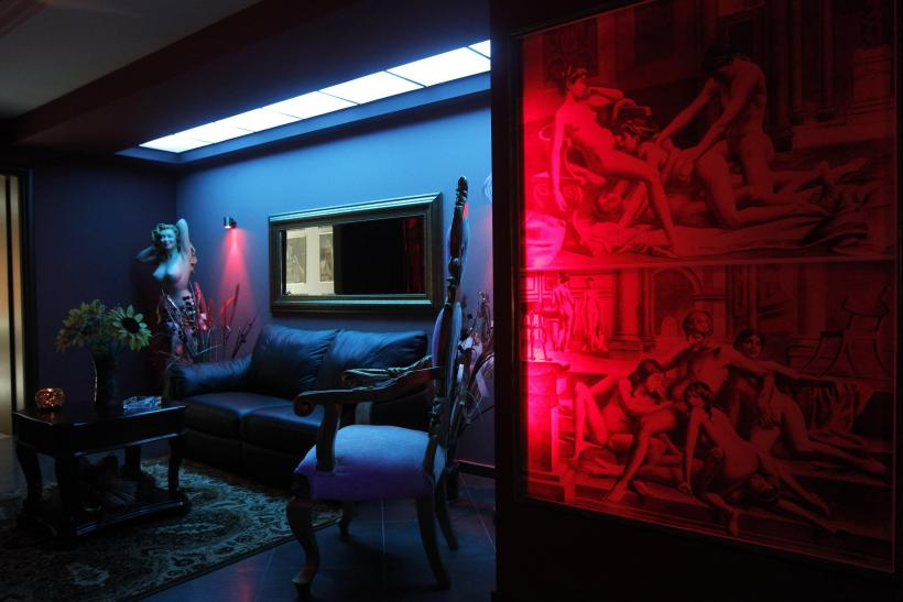 """A room inside the """"Soula"""" luxury brothel."""