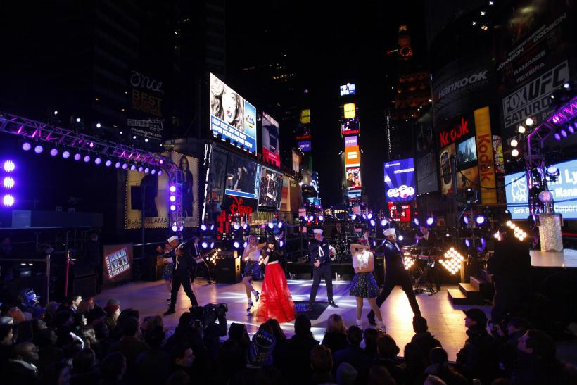 Carly Rae Jepsen performs during New Year's Eve celebrations