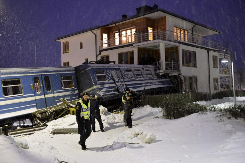 Swedish Woman Steals Passenger Train, Crash Lands In A House