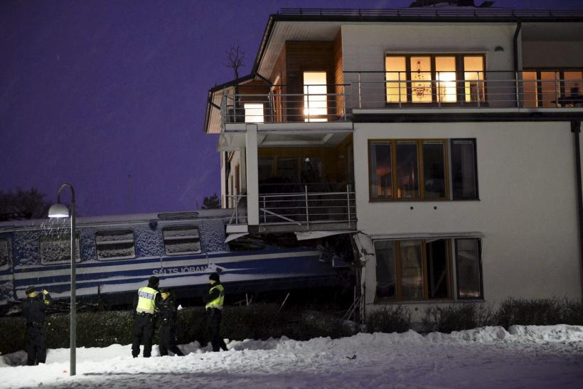 Swedish Woman Steals Passenger Train, Crash Lands In A House(Photos)