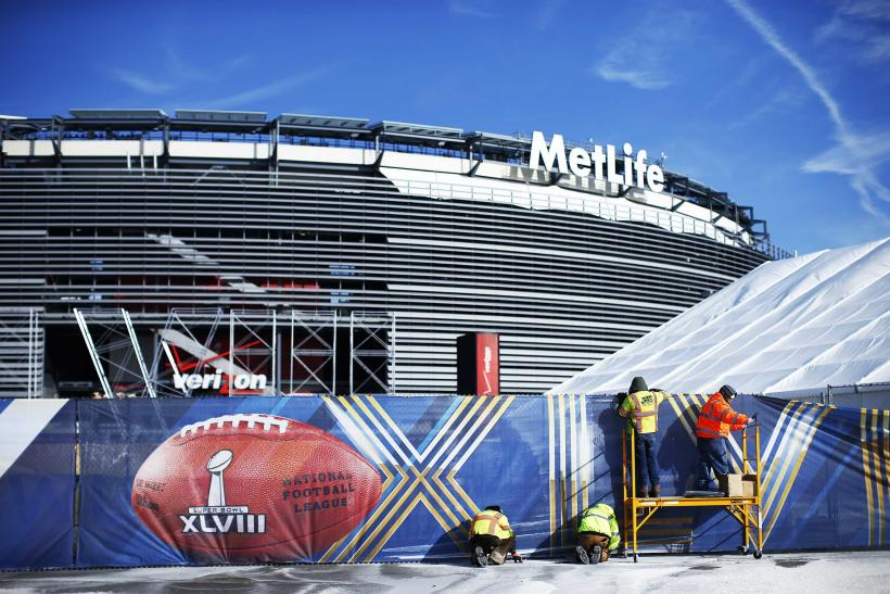 Super Bowl XLVIII Metlife Stadium closeup