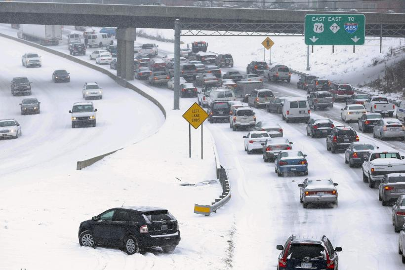 Winter Storm Pax Charlotte Roadways
