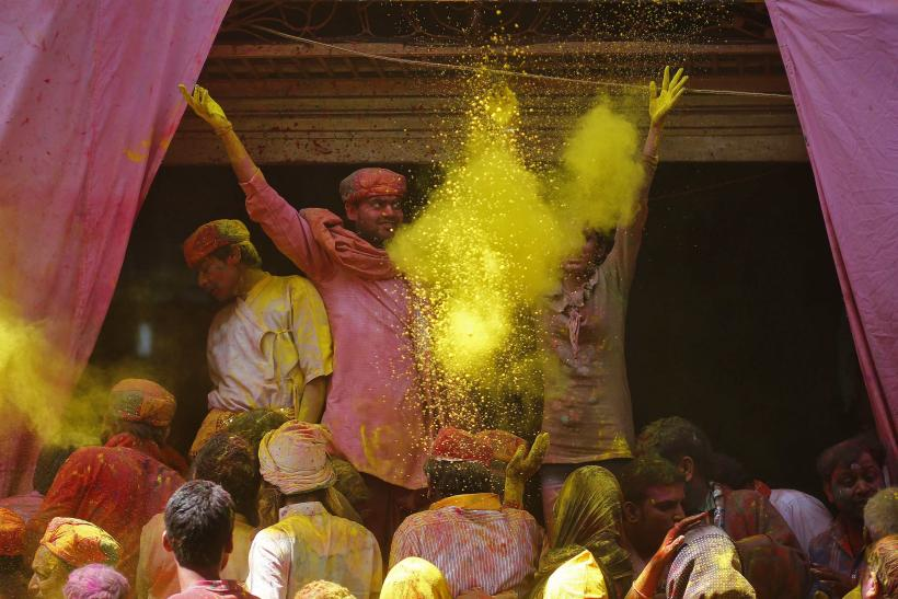 Lathmar holi Colored Powder Yellow Barsana March 9