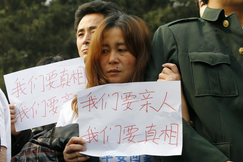 MH370-protest-Beijing