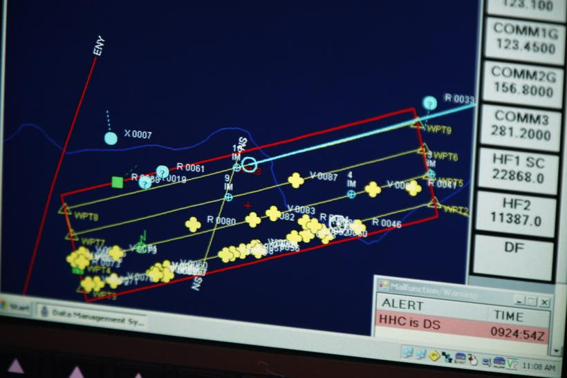 MH370 search screen March 29