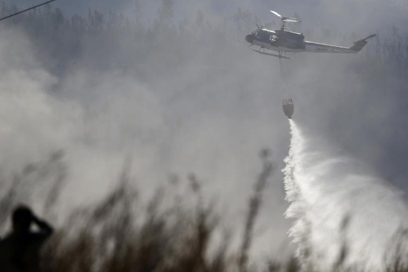 Chile Blaze - Helicopter April 14