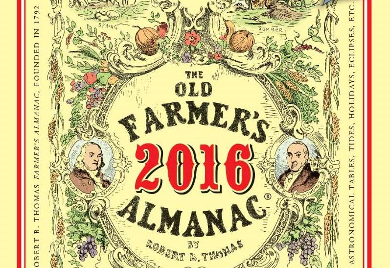 The 2016 Old Farmer's Almanac has recipes, gardening advice and the