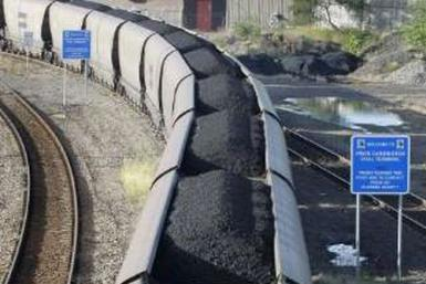 Railroads are a key means of transporting coal