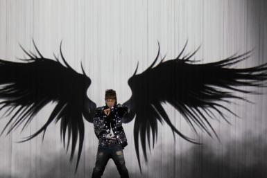 Jang Woo-Hyuk, a former member of South Korean boy band H.O.T. performs at a show of a local TV station in Seoul
