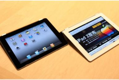 The Apple iPad 2 is shown during its launch event in San Francisco, March 2
