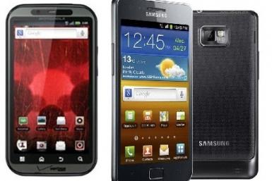 Motorola Droid Bionic and Samsung Galaxy S2