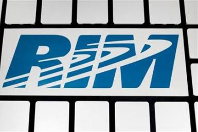 A RIM logo is seen at the Research in Motion headquarters in Waterlo