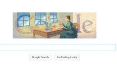 Google doodle to celebrate the birth anniversary of Marie Curie