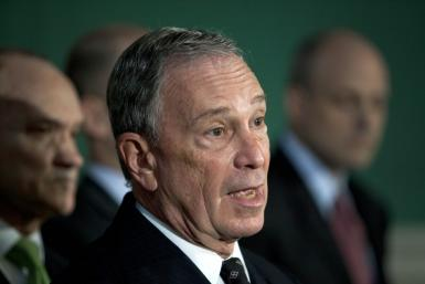 New York City Mayor Michael R. Bloomberg speaks at a press conference regarding an unannounced raid in New York