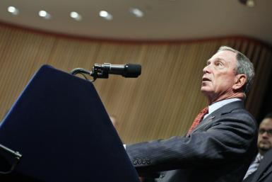 New York City Mayor Michael Bloomberg speaks during a news conference at Cornell University in New York