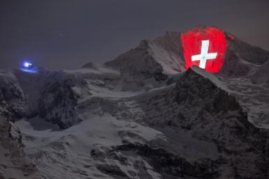 Illumination of Swiss Alps Marks Centenary Year of Mountain Railway