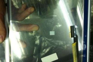 The alleged iPad 3's front glass panel